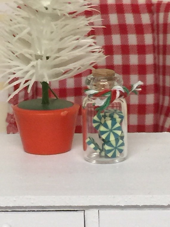 Miniature Peppermint Candy Jar -1:12 scale