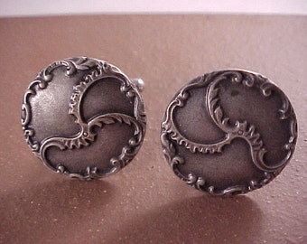 SALE Solid Pewter Triskele Clothing Button Cuff Links - Free Shipping to USA