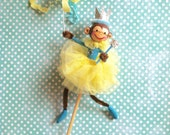 RESERVED for DAWN (Do Not Buy) Princess/Fairy Party Monkey Cake Topper