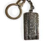 Vintage Sterling Silver 925 Peru or Peruvian Totem Key Chain