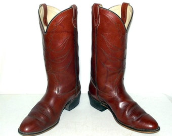 Vintage Brown Cowboy Boots - Acme Brand - mens size 9.5 D / womens 11 western wear