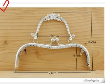 21cm 8 1/4  inch Purse frame with handle  Metal purse frame supply Z100