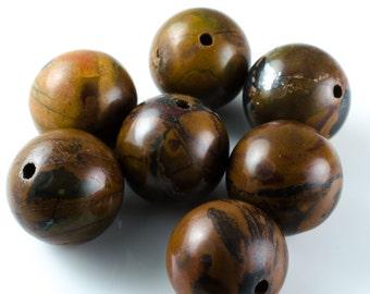 Autum Jasper Round Beads