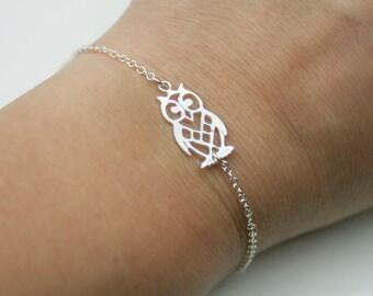 Sterling Silver Owl Bracelet