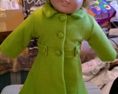 SALE Fits 18in Doll Wool and  Lined Lime Green (1) OR Petal Pink  (2) Winter Coat Huge Clearance Sale