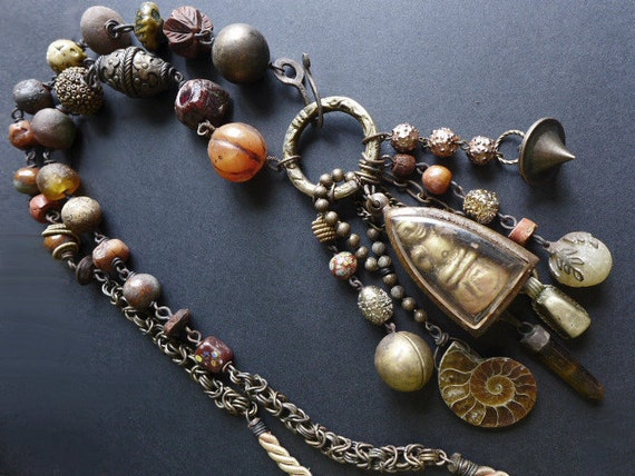 Autolatry. Buddhist talisman meditation neckpiece.