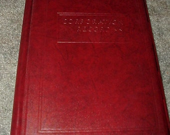Vintage--Corporation Record--Ledger Book--With Tabs--Unused--GOES Lithographing