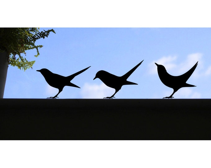 3 Blackbird window stickers, birdy wall decals