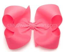 popular items for hot pink hair bow on etsy
