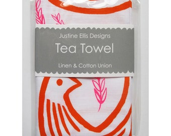 Tea Towel - 3 Pairs of Turtle Doves