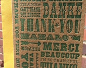 Letterpress Thank You Card - *NEW* Wooden Type Collection