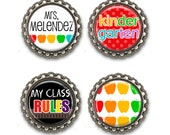 Personalized TEACHER Gift - Magnet Set, Teacher Appreciation, Thank You Gift, Back to School, End of the Year Gift, Bottlecap Magnets