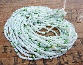 Antique Seed Bead Mint Green Size 11 Hank SB1089