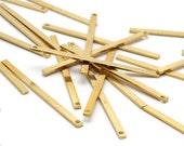 25 Raw Brass Bars (40x2x0.80mm) Bs 1189