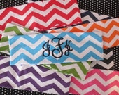 CHEVRON personalized headband.  Name OR Monogram.  Lots of colors and fonts to choose from.