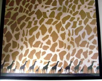Safari.. Magnet Dry Erase Steel Memo Board / Housewarming Gift / Desk / Wall Decor / Office Decor / Organization / Dorm Decor / Coworker