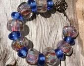 Carribean Calypso Handmade Lampwork Boro Beads