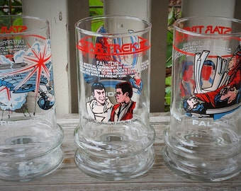 Set of Three Taco Bell Star Trek III  Glasses