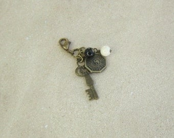 LOST TV Show Inspired Dharma Antiqued Clip On Accessory