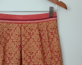 ON SALE...leafy love...high waist straight skirt with side seam pockets
