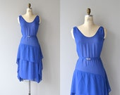 Flamme Bleue dress | vintage 1920s dress • silk chiffon 1930s dress