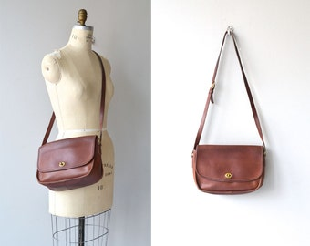 Coach 'City' leather saddle bag | brown leather Coach bag • vintage leather Coach purse