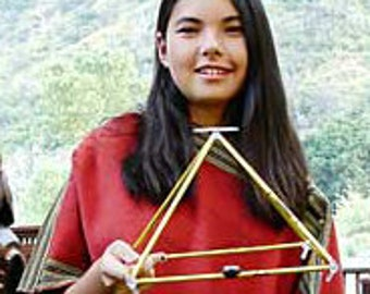 """12"""" Gold-Anodized Titanium Pyramid easy-to-assemble kit designed by Nick Edwards for Pyramid Planet."""