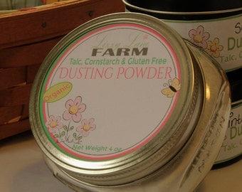 Natural Body Powder Gardenia Body Bath Dusting Powder. Vegan. Gluten, cornstarch and talc free scented made to order