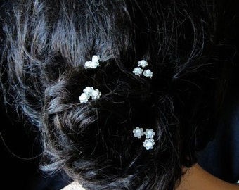 Pearl wedding hair pins x 12 pearl crystal wedding pins wedding hair accessories