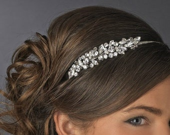 Crystal Bridal headband tiara navette wedding crystal bridal hair accessories vintage style