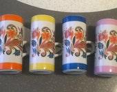 Bohemian Coffee House - 1960's Psychedelic Printed Coffee Mugs