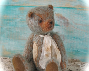 Mohair Vintage style Boyd the Bear 7 inches tall handmade teddy bear by Woollybuttbears