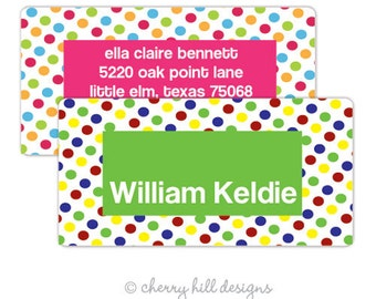 """Circus (pink or green) Gift Tag - set of 24 4"""" x 2"""""""