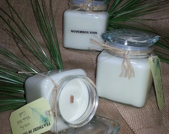 100% soy wooden wick candle  18oz choice of scent