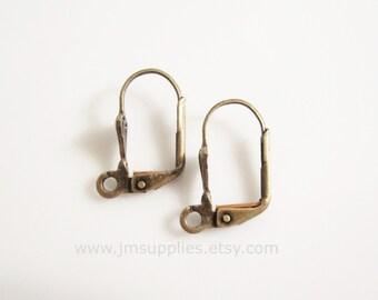 Antique Brass Leverback Earwire