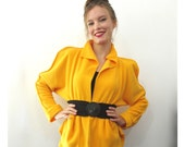 BASIA's Provocatec Pouf Sleeve Sexy Short Peplum Jacket  - FREE US Shipping