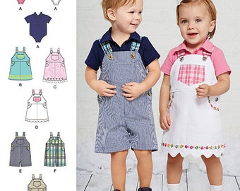 BABY CLOTHES PATTERN /  Make Overalls - Jumper - Onsie / Boy - Girl  / Sizes Preemie To 24 Pounds / Boy - Girl