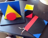 French 1980s Three set Desk Set - Splash Editions - Memphis Design