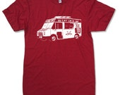 Mens FOOD TRUCK (eat local) american apparel T Shirt All Sizes S M L XL (16 Colos Available)