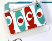 3 x 5 Index Card or Note Card Binder, Red Modern Mix
