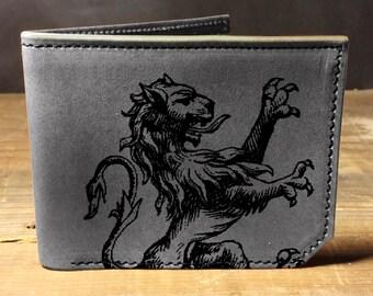 wallet - leather wallet - mens wallet - Lion wallet - 025