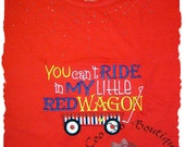 red wagon Applique Child's Tee Shirt