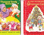Vintage Children's Books with Christmas Theme, 1970's, Rand McNally Junior Elf Book