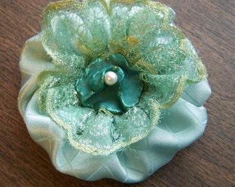 Soft Green Fabric Flower