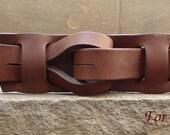 """Muse """"Qallu"""" Belt in Brown 1.5 width"""