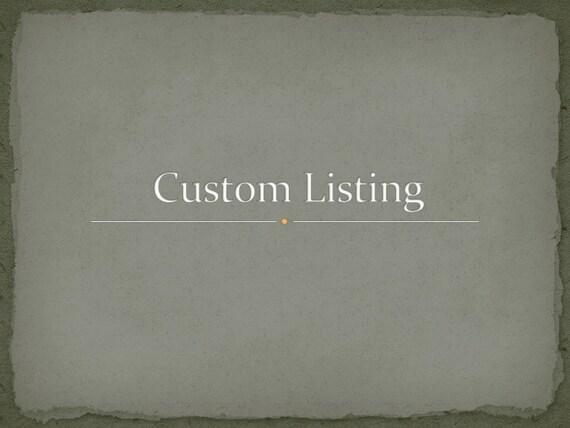 Custom listing for Alfake78