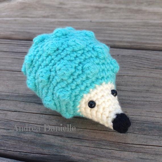 Crochet Hedgehog Toy Amigurumi: Turquoise Cream