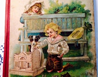 Vintage children book Object Lesson ABC MA Donohue RARE 1900