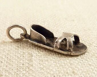 Vintage Sterling Sandal Charm