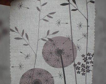 SAMPLE of paper meadow fabric in blush
